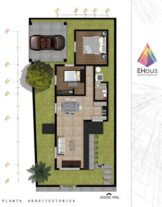 Homify for Plantas arquitectonicas de casas