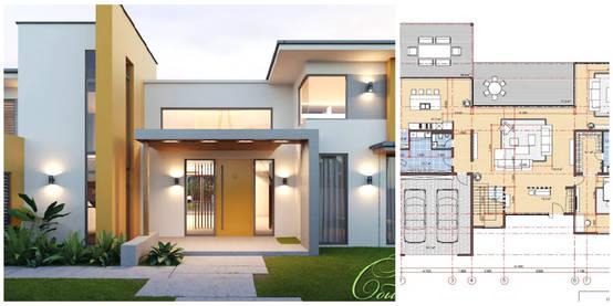 5 casas modernas com os respectivos projectos para que for Casa con planos completos