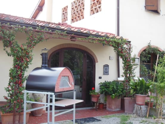 Outdoor wood fired oven Pizza Party