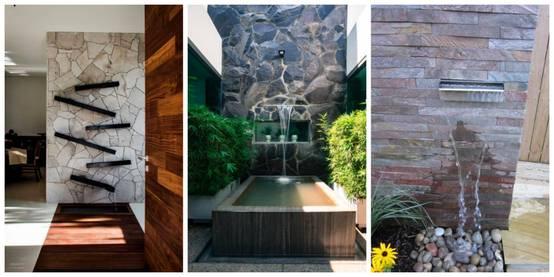 15 muros llorones perfectos para tu casa interior y exterior for Cascadas para exteriores