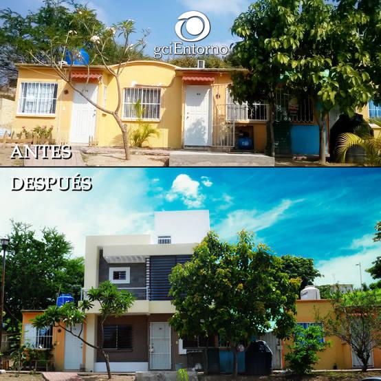 La remodelaci n de 5 casas peque as quedaron preciosas for Remodelacion de casas pequenas