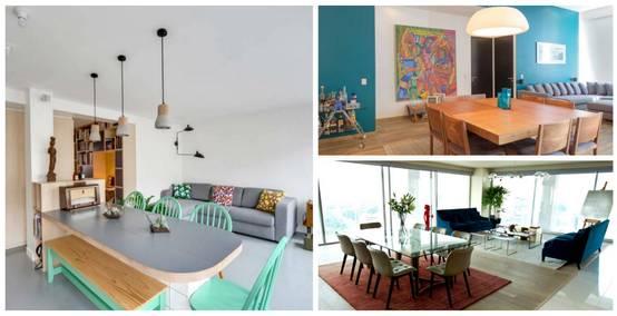 11 salas que se unen con el comedor ¡sensacionales!