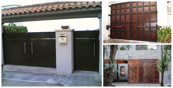 13 puertas y portones que dar n estilo a tu fachada for Casas modernas con puertas antiguas