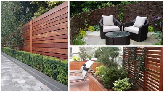 16 cierres de madera para el patio de todos los estilos for Cerrar valla jardin