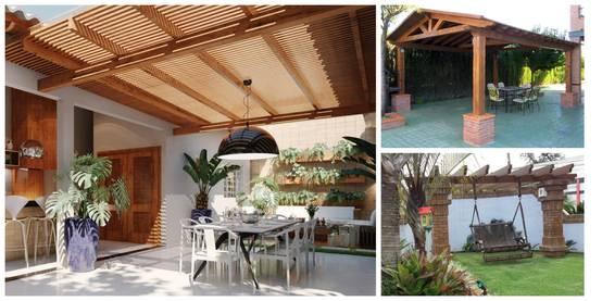 25 prgolas de madera que te inspirarn a poner una en tu patio ya - Pergola De Madera