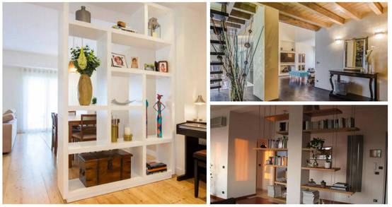 27 ideas geniales para dividir espacios en tu hogar for Divisiones para sala y cocina