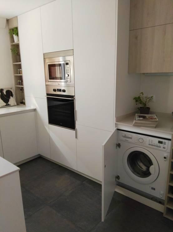 Mueble columna lavadora secadora beautiful secadora for Mueble lavadora cocina