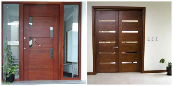 23 puertas de madera que te van a gustar para tu casa for Modelo de puertas para habitaciones modernas