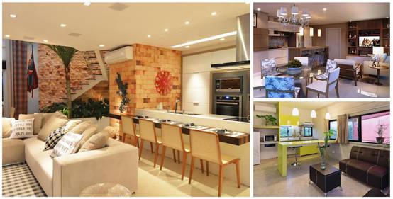 Sala comedor y cocina en un solo espacio 20 ejemplos for Modelos de cocina comedor pequenos