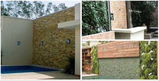 13 bellas ideas para revestir tus paredes exteriores for Ceramica para paredes exteriores