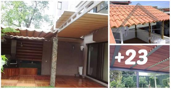 Techos y p rgolas 23 maneras para proteger tu patio con for Estilos de techos para patios