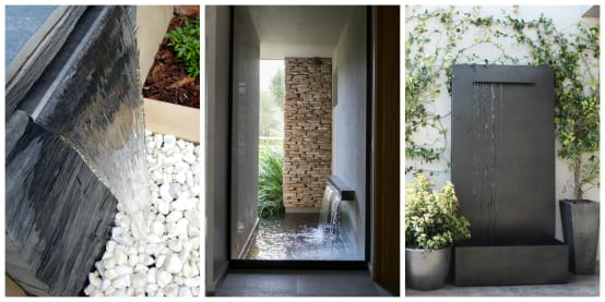 15 muros con fuentes de agua que se ver n fabulosos en tu for Fuentes de agua para jardin exterior