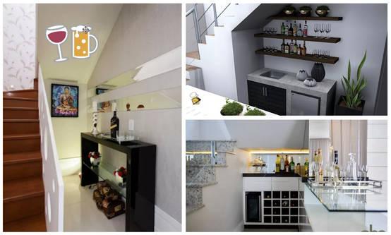 15 mini bares perfectos para aprovechar el espacio bajo la for Cantina debajo de las escaleras