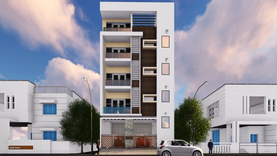 Front Elevation Building Construction : Homify