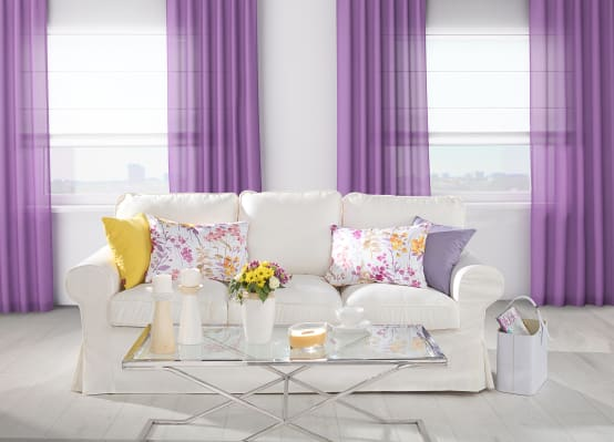 Living Room Decor in Ultraviolet