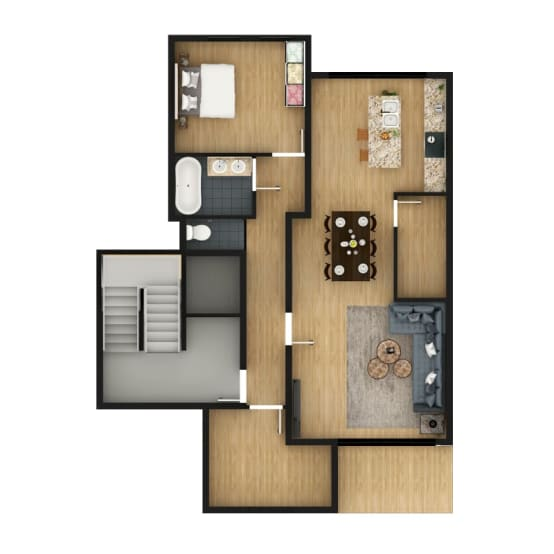 Architectural 3d Floor Plan Rendering: Homify