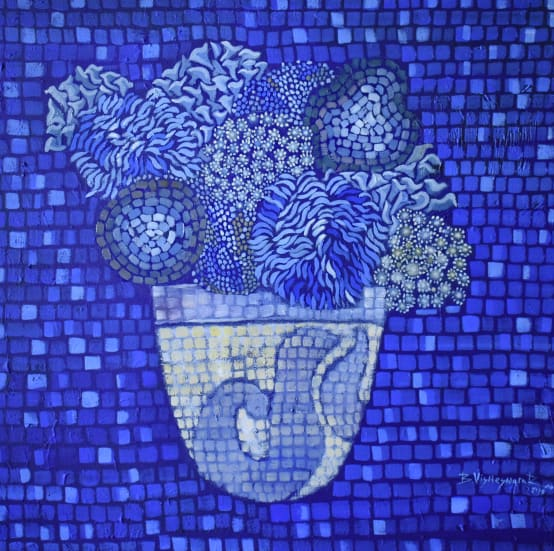 "Buy ""Blue Vase-2"" Oil Painting Online"