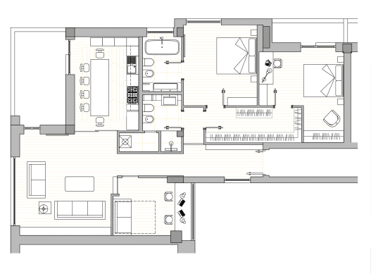 Come progettare una casa di 120 mq idee e soluzioni for Come ottenere le planimetrie di una casa