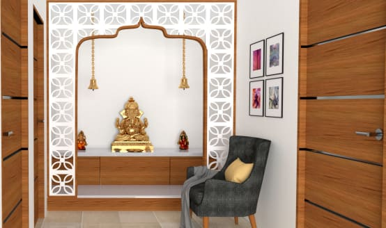How to create pooja room designs in wood or plywood?