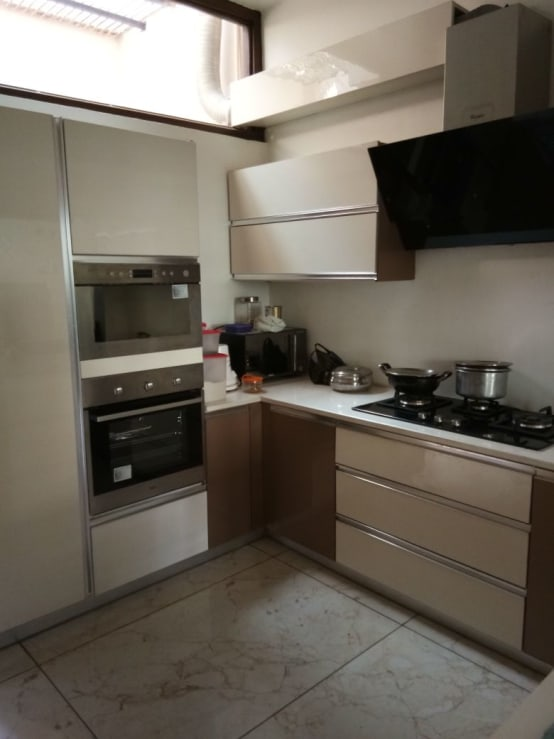 Built In Microwave & Oven with Metallic Finish