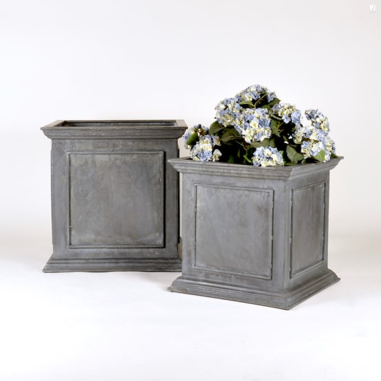 Weathered Zinc Planter Collection