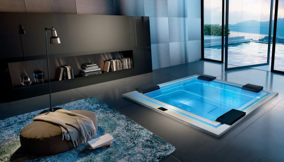 traumhafter luxus whirlpool f r drinnen drau en startseite design bilder. Black Bedroom Furniture Sets. Home Design Ideas