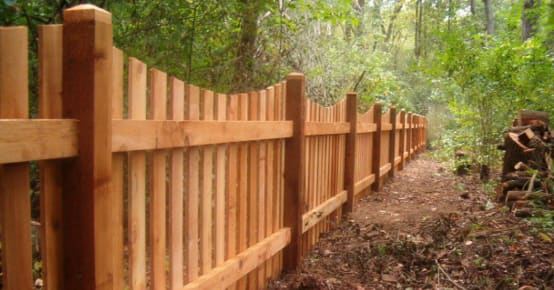 Durable Wood Fencing Installation