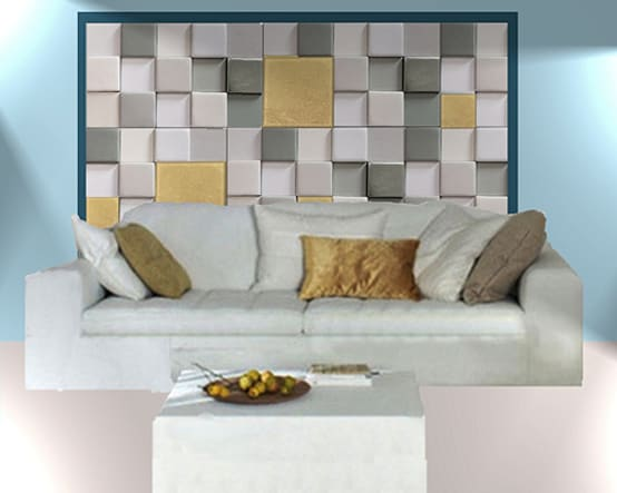 Wall decor, Leather Tiles panel