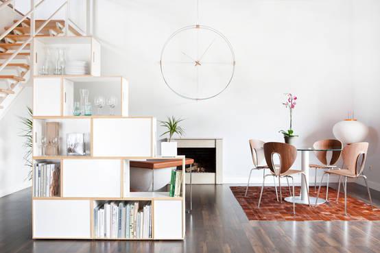 Ideas de decoración y diseño de interiores con estanterías modulares en Barcelona