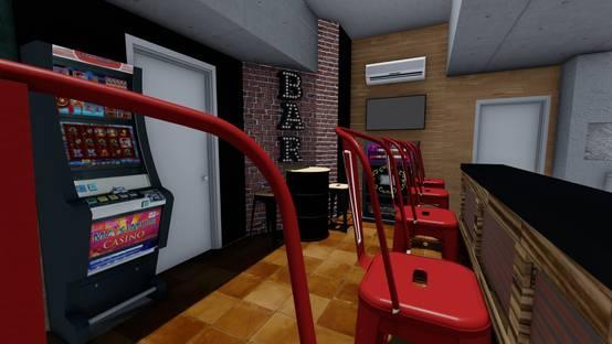 Diseño 3d – Zona barra y detalle fondo