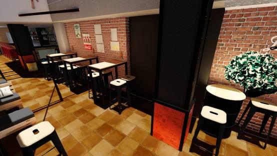Diseño 3d – Detalle columna y pared
