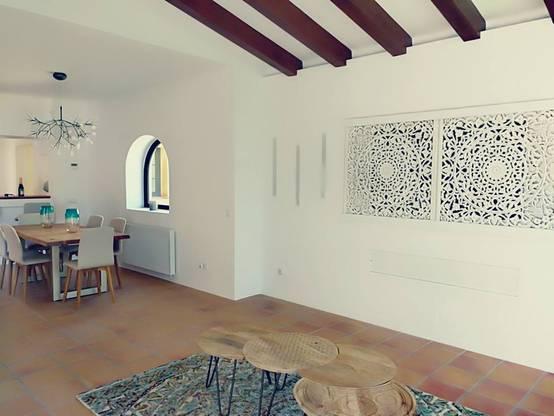 después: pared decorativa