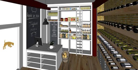Ausgefeiltes Konzept für ein Ladengeschäft