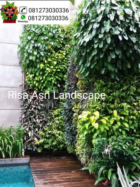 jasa pembuatan vertical garden , taman vertikal di surabaya