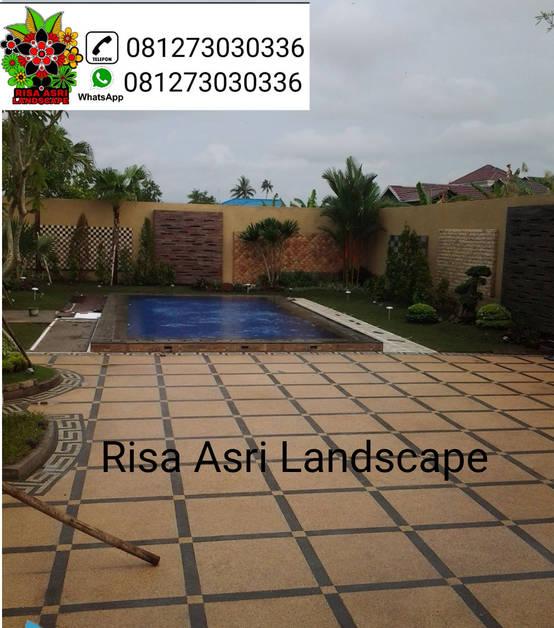 jasa pembuatan taman, kolam, vertical garden, carport batu sikat ampyangan, ornamen relif, batu alam, kolam koi, kolam renang di surabaya