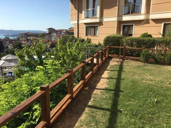Beykoz'da muhteşem bir villanın özel üretim bahçe mobilyaları