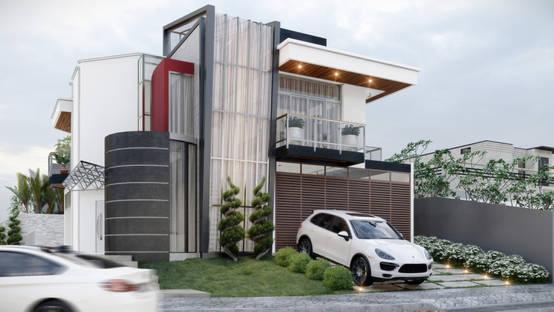 Projeto em 3D para residência moderna em Foz do Iguaçu | homify | homify