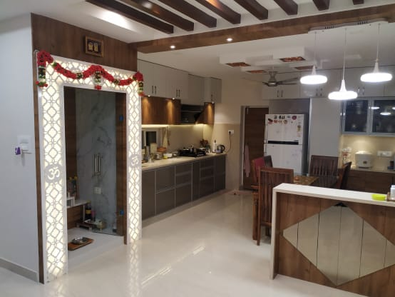 Modern Interiors for a 1200 sq ft Home in Hyderabad