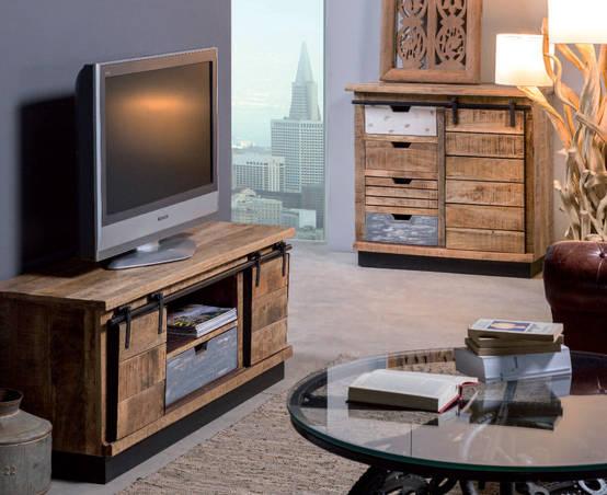 Mobili Bassi Porta Tv in Stile Industrial