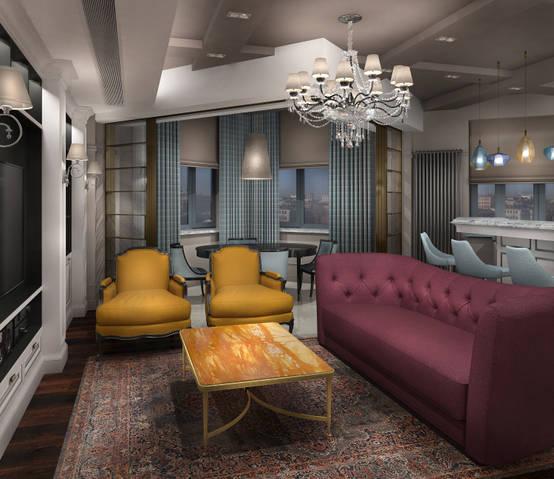 Потрясающий дизайн интерьера квартиры в Москве