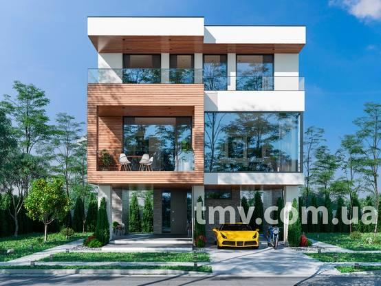 Проект дома для маленького участка: 144 м² с тремя спальнями