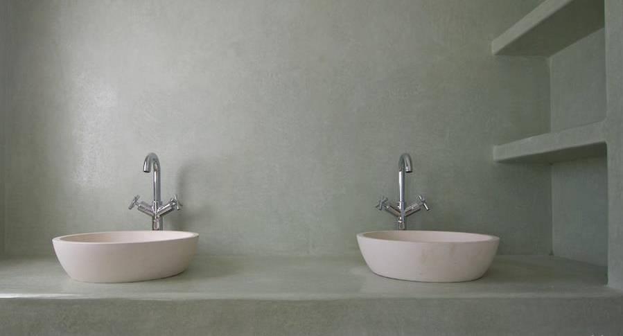 badezimmer feuchtr ume in betonoptik von fugenlose. Black Bedroom Furniture Sets. Home Design Ideas
