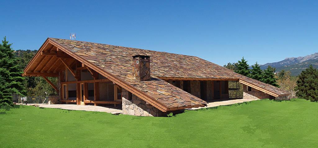 La maravillosa casa del tejado hasta el suelo - La casa en el tejado ...