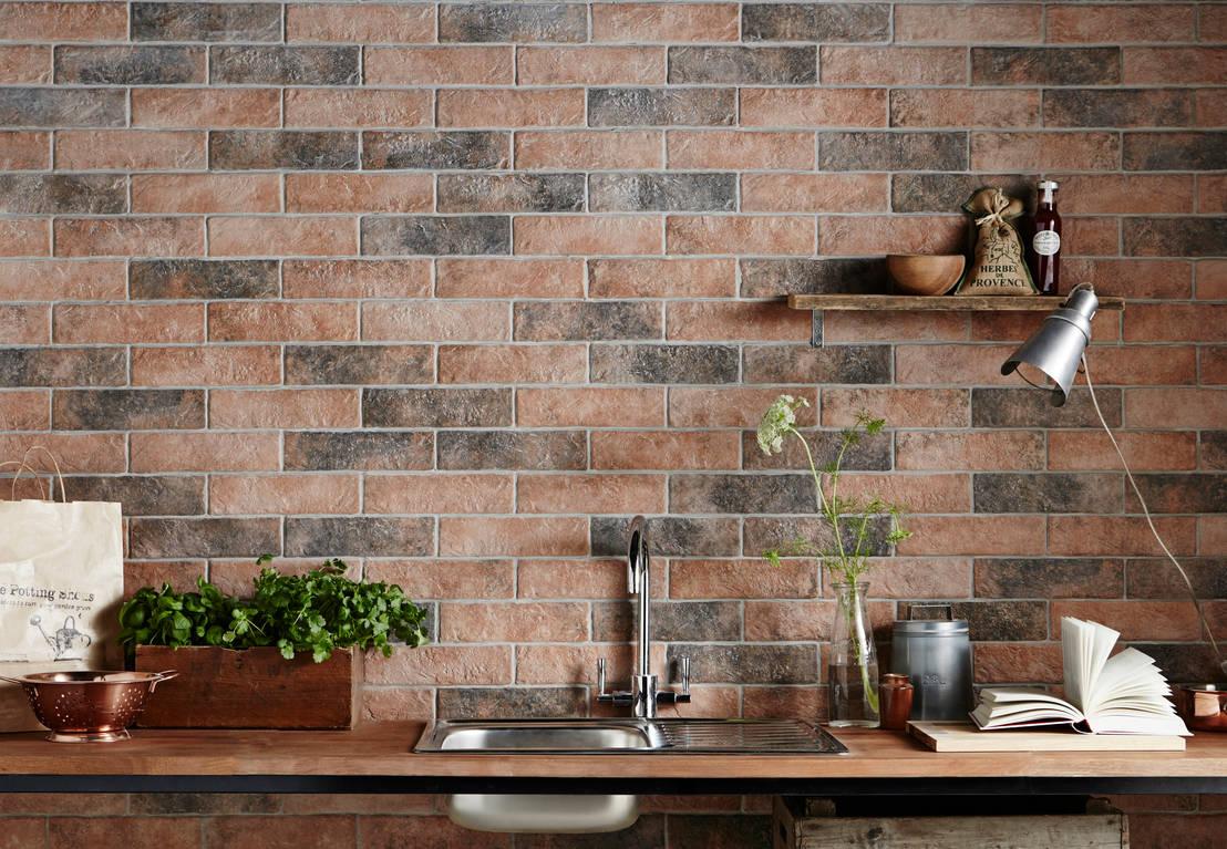 Brick Wall Design Tiles : Muralla brick wall tiles by tile mountain homify