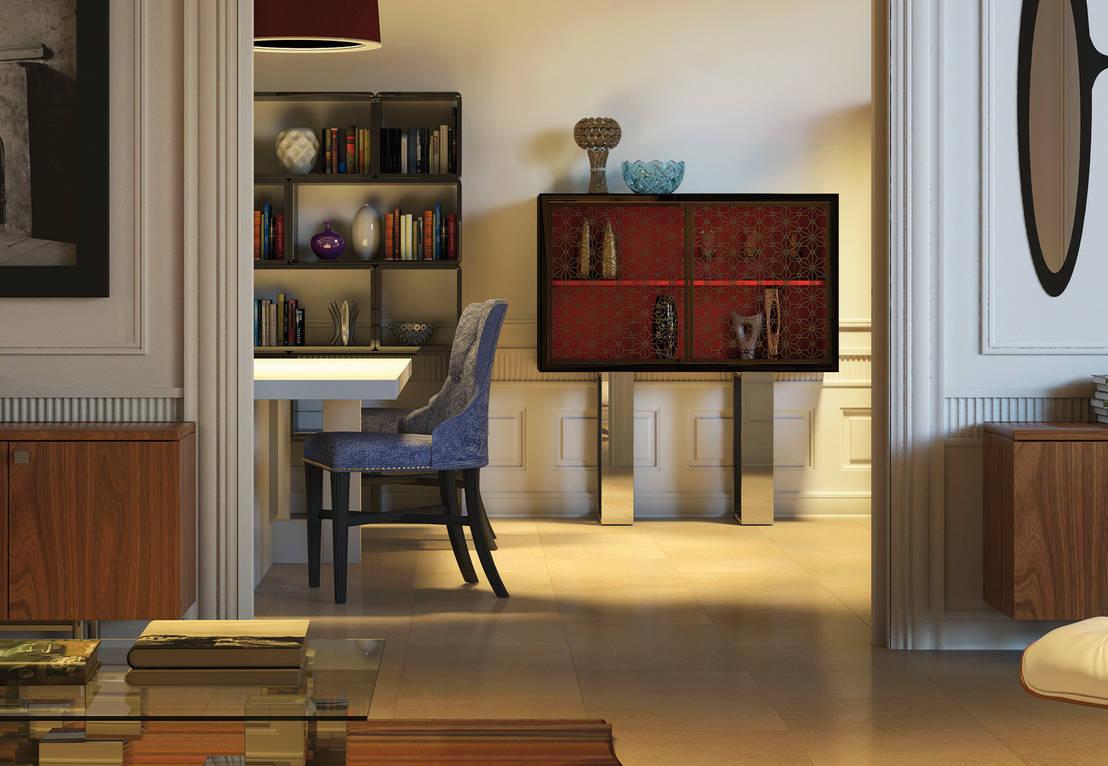 6 vitrinas para un sal n moderno - Vitrinas para salones ...
