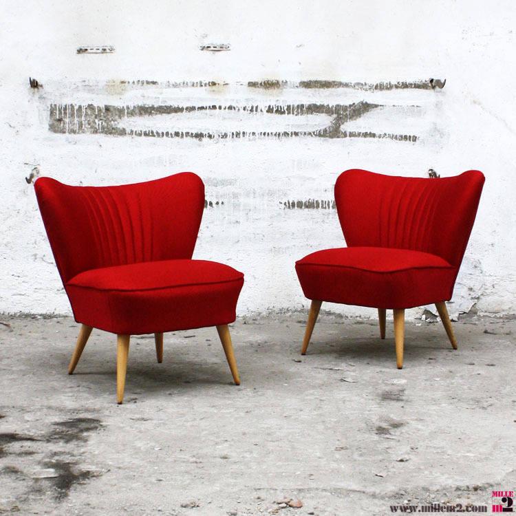 fauteuil cocktail vintage des ann es 50 rouge par mille m tres carr s homify. Black Bedroom Furniture Sets. Home Design Ideas