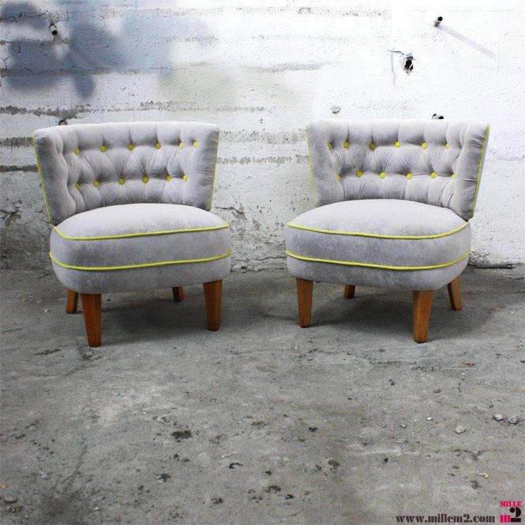 fauteuil vintage en gris et jaune par mille m tres carr s homify. Black Bedroom Furniture Sets. Home Design Ideas
