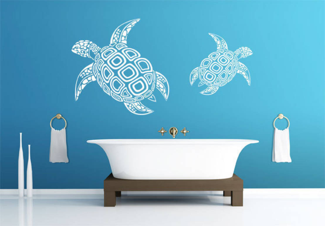 9 ways to make your bathroom decor more exciting for Wall art stickers for bathrooms
