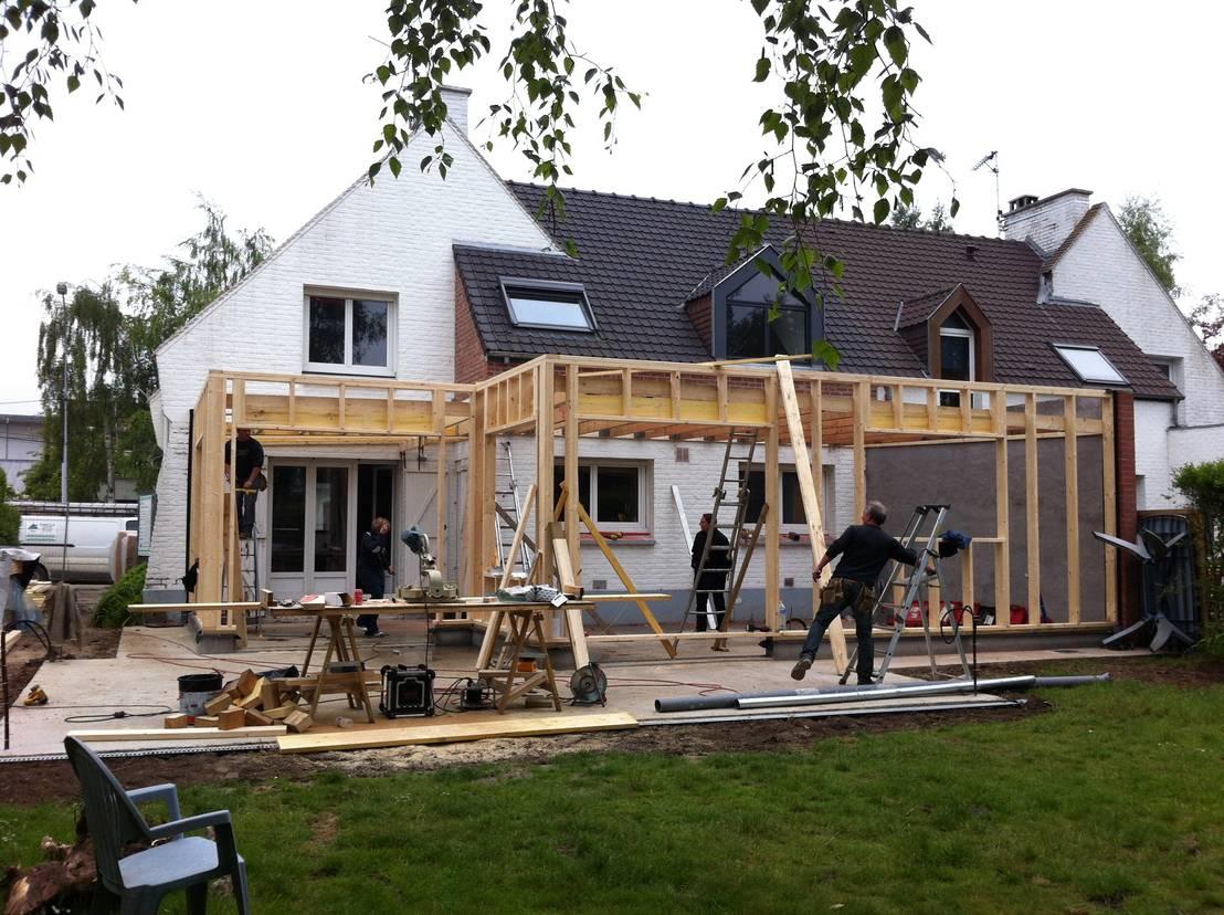 Un pratico e veloce ampliamento tutto in legno - Ampliare casa con struttura in legno ...