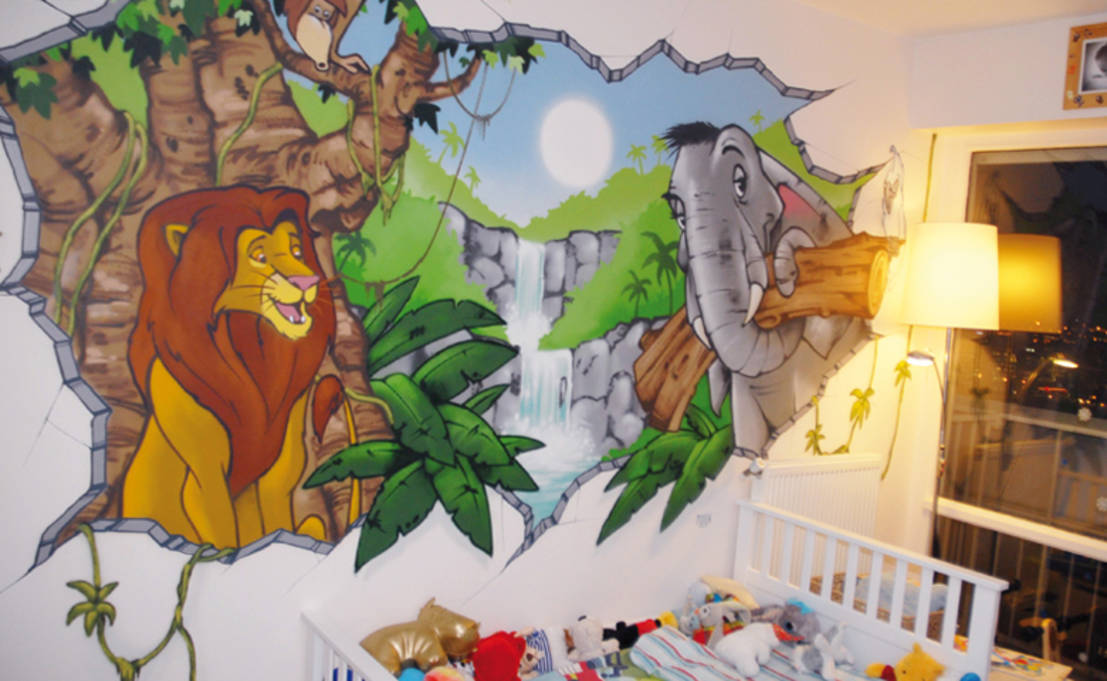 D coration chambre d 39 enfant th me jungle par popek for Decoration chambre jungle